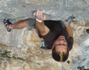 Richie Patterson on Lord Byron 7c+, Poo de Cabrales