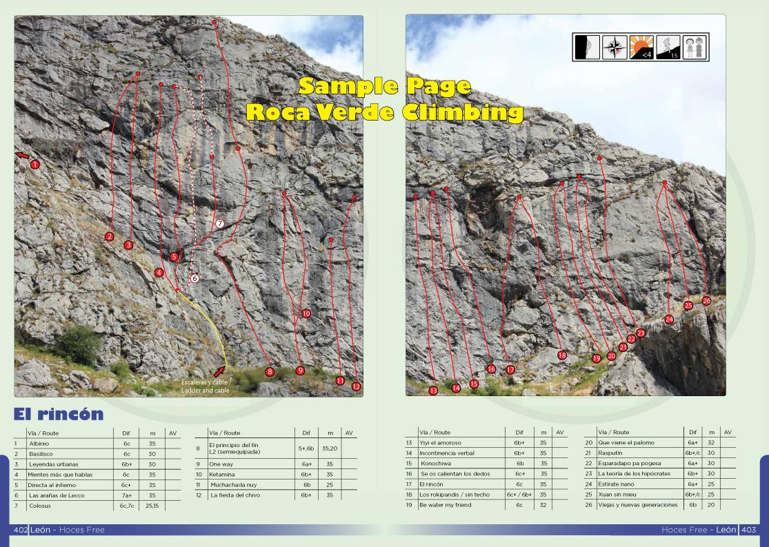 Hoces free has three superb sectors on brilliant limestone...
