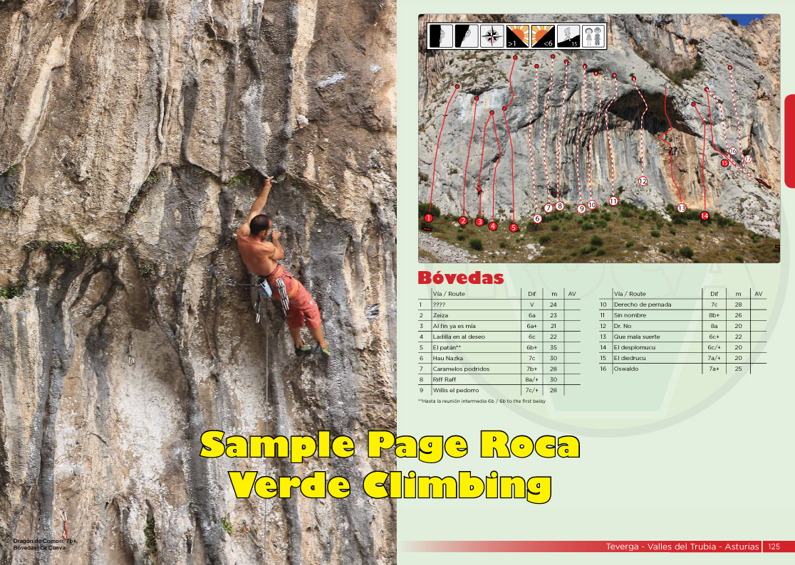 Bovedas in Teverga features 6b slabs and 7b+ tufas!!
