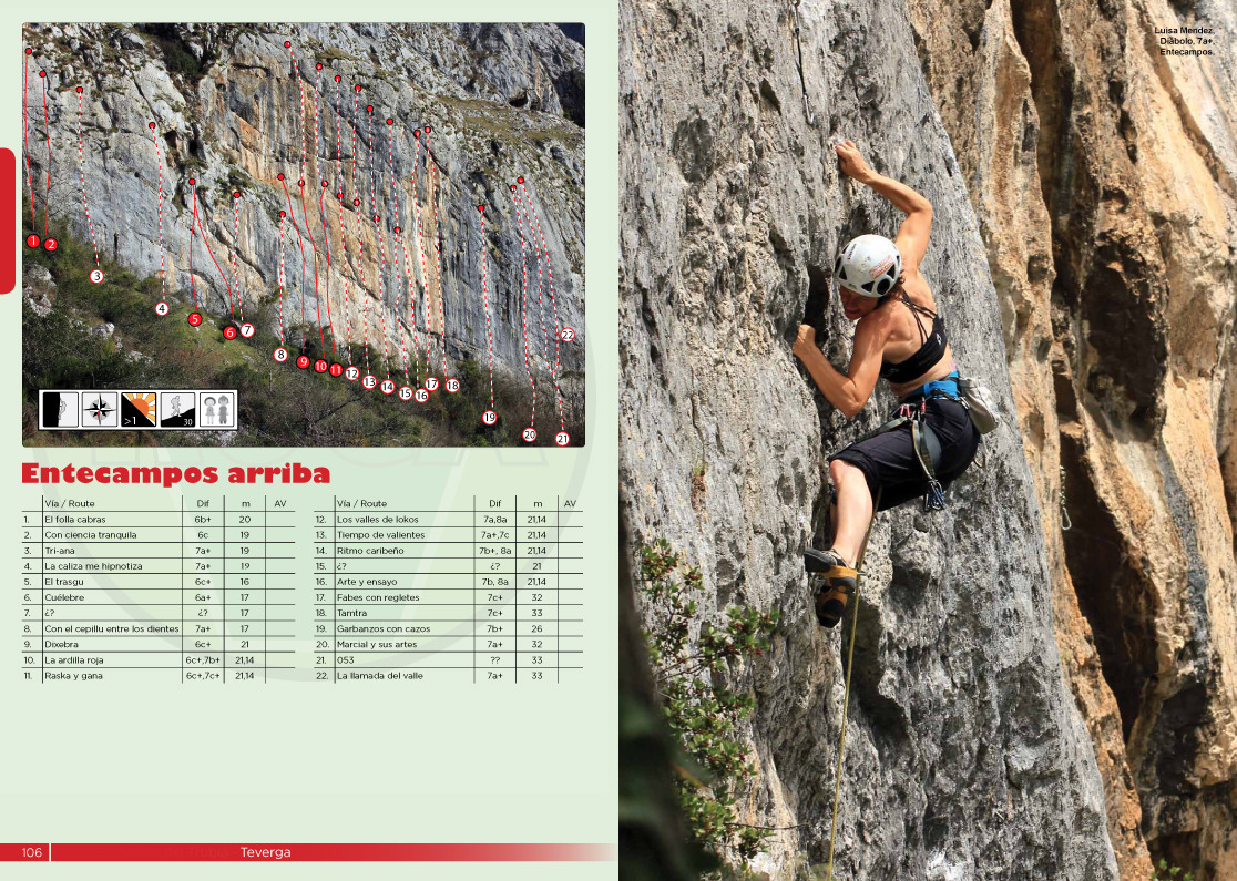 Entecampos, one of the sectors at Teverga features pumpy wall climbing
