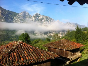 What a view to wake up to...another beautiful July day in Asturias..
