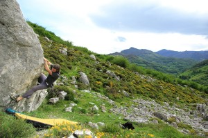 Juan on a brilliant 6a...in a superb setting!