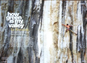 Great spread in climber magazine...