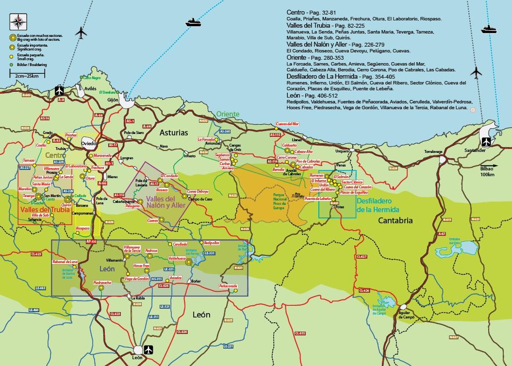 New Asturias Map