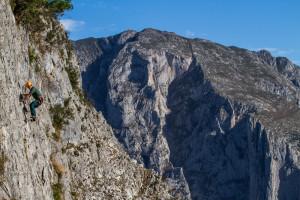 Escalada menos exigente en el Valle de Bejes. Less demanding routes also exist...