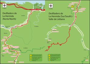 El valle de La Hermida - The La hermida valley...