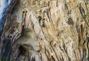 Tanya Meredith on the final slap of Karim Abdul Jabbar, 7b+,